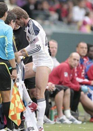 David Beckham se déshabille