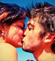 un baiser sexuel